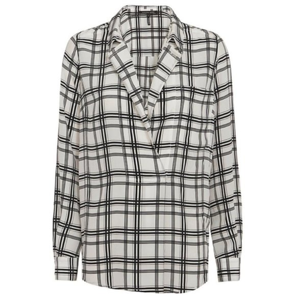 [Marissa Webb] Danielle Plaid Blouse